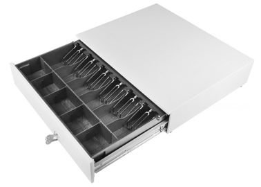 Chiny Ivory Large Cash Drawer / Heavy Duty Metal Drawers Removable Tray 10.5 KG 490 fabryka